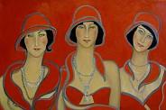 Trzy Gracje w czerwieni