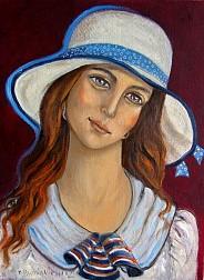 Dziewczynka w kapeluszu.