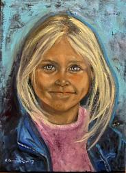 Dziewczynka o niebieskich oczach
