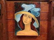 Kobieta w kapeluszu miniatura