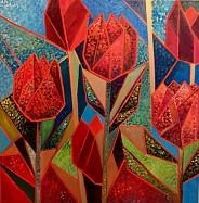 Tulipany i skrawki nieba