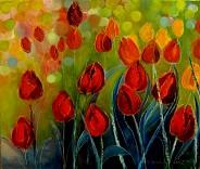 Tulipany i bąbelki II