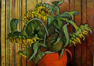 Słoneczniki w czerwonym garnku II