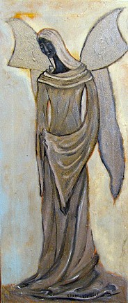 Srebrny anioł opiekuńczy